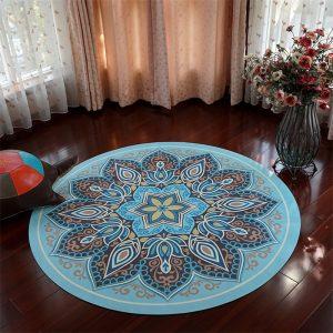 suede round yoga mat