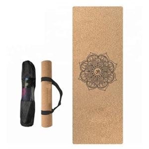 strap cork yoga mat