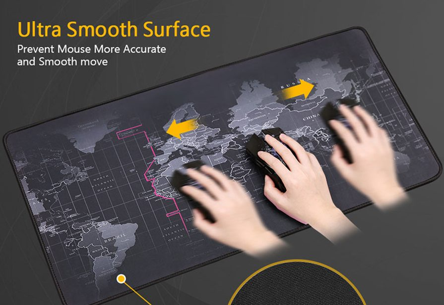 world map gaming mouse pad details