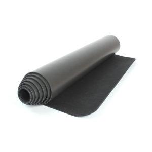 black pu yoga mat