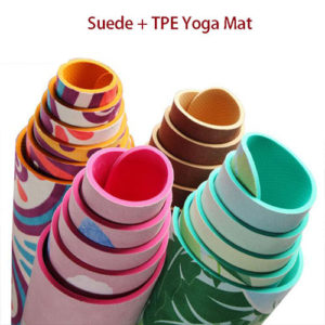 tpe suede yoga mat
