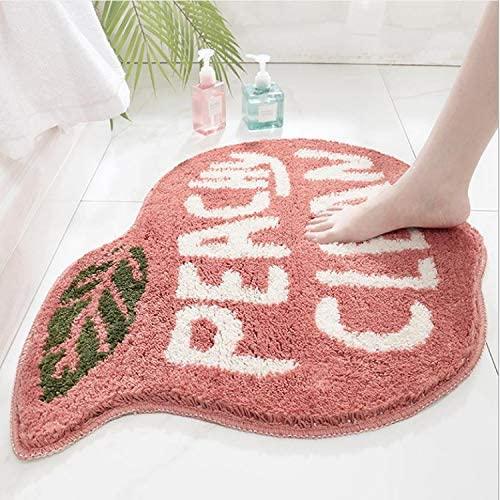 Fancy Cartoon Peach Flocking Carpet Floor Mat Home Bathroom Door Bathroom Non Slip Mat Absorbent Foot Mat Fdt Rubber