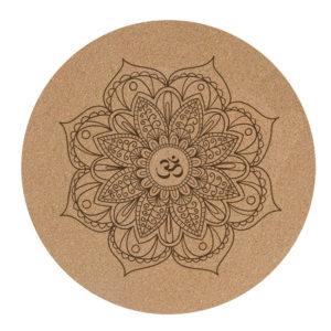 round cork yoga mat