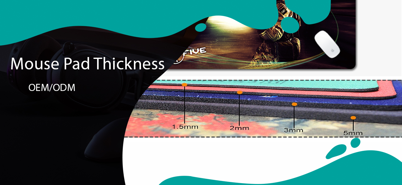 mouse pad thickness oem service