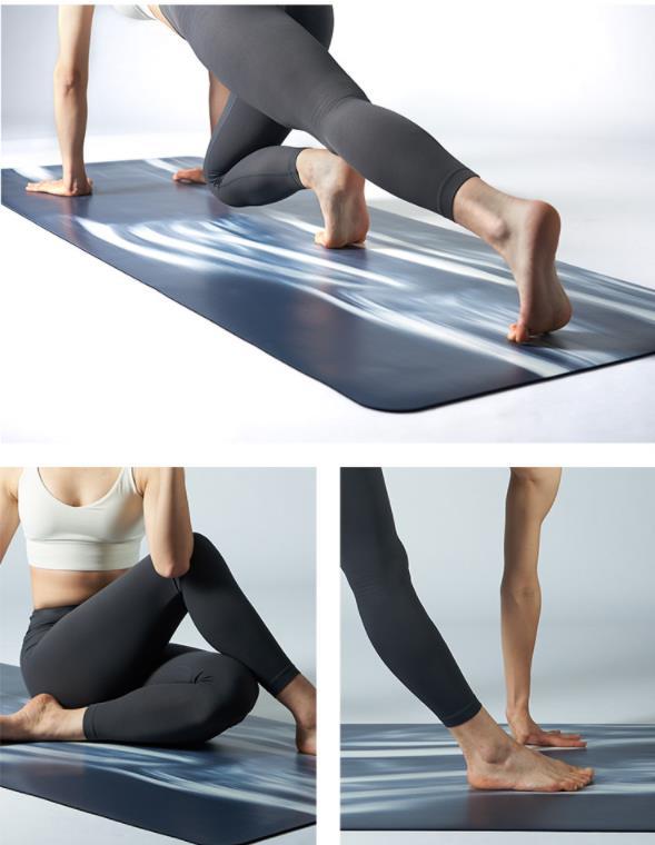 color wave yoga mat