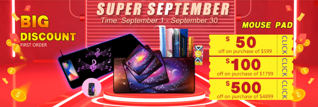 fuding rubber super suptember mouse pad